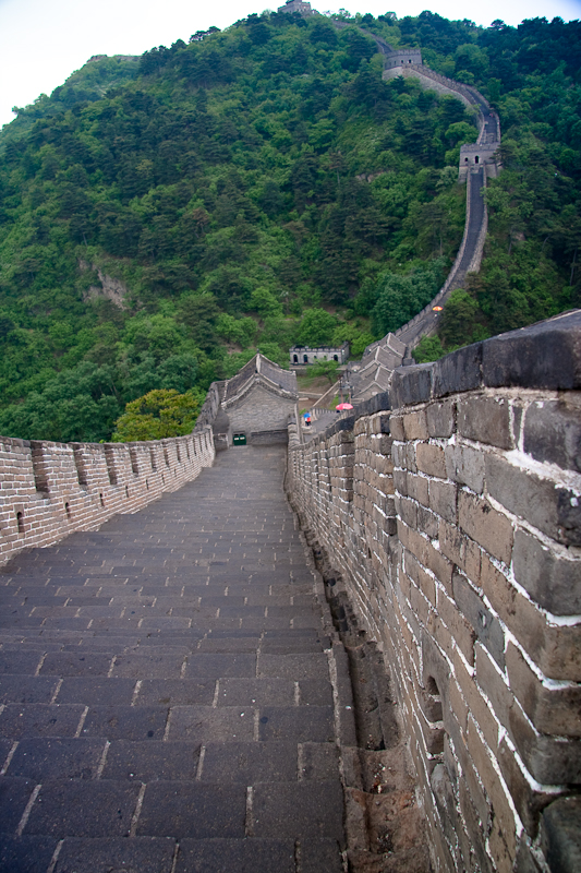 Looking down on the Great Wall of China