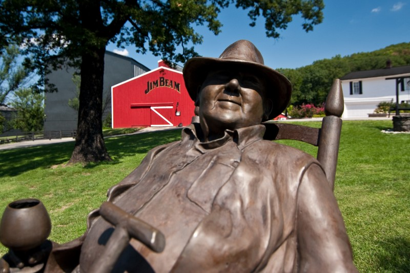 Statue at Jim Beam distillery